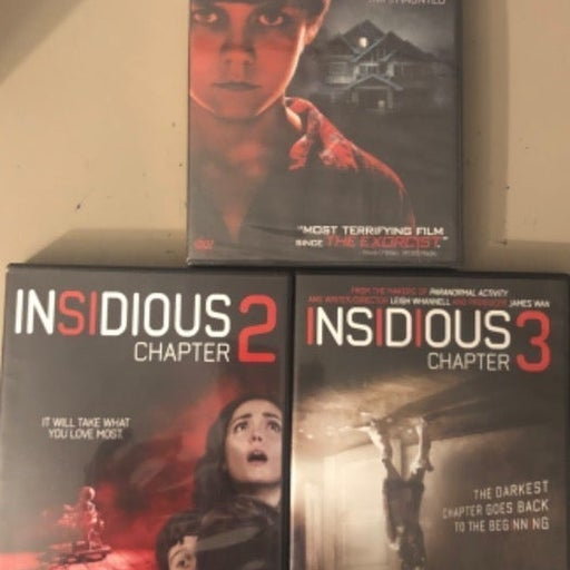 Insidious , Insidious Chapter 2 , insidious Chapter 3 , 3 Movie DVD Set .