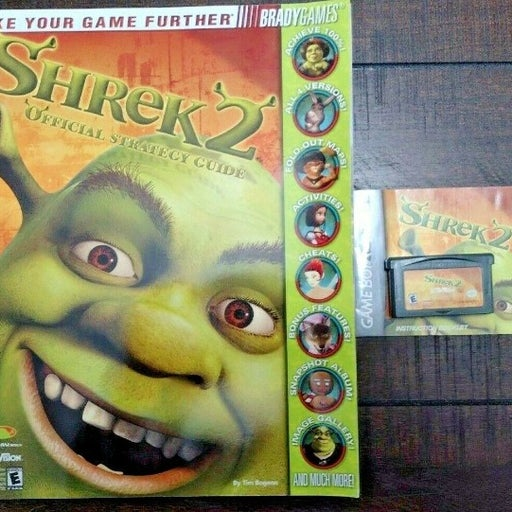 Shrek 2 Nintendo Game Boy Advance With Game Guide Book and Manual