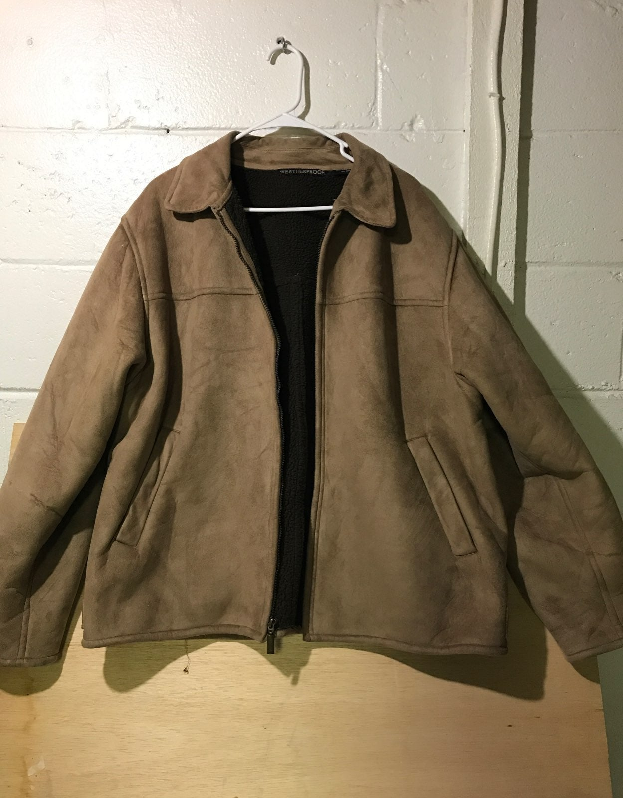 Mens Suede and Wool Leather Jacket