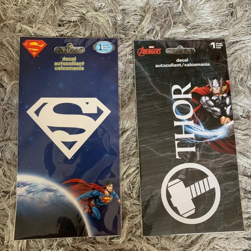 Thor and Superman Decal Stickers