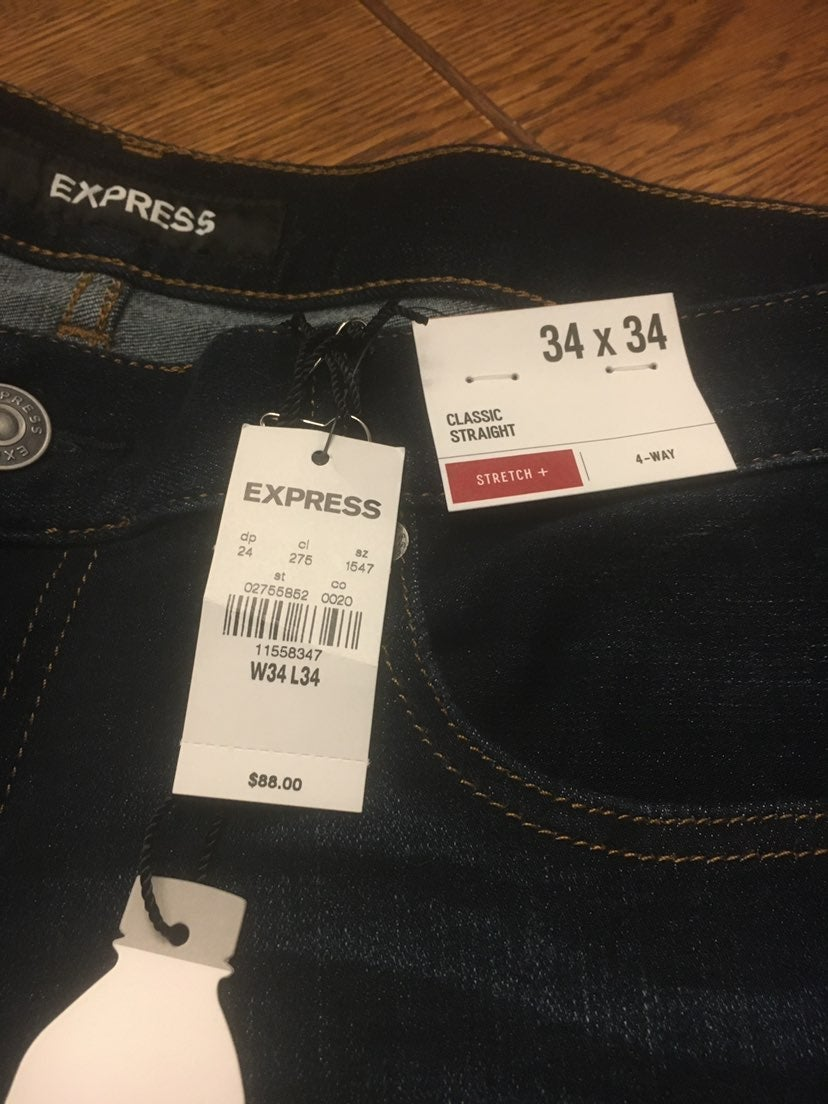 Mens Express Jeans 34x34