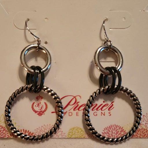 Premier Designs Silver Hook earrings