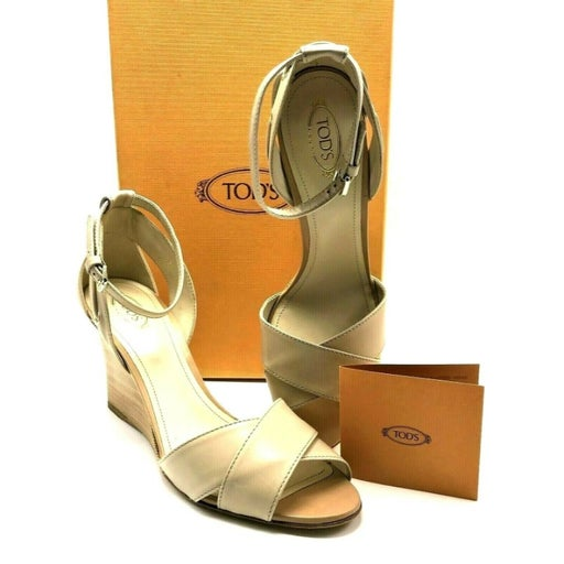 TOD'S High Wedge Ankle Strap Sandals