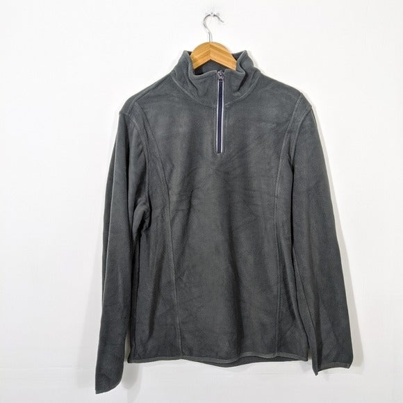 Vintage 1946 Gray Zip Fleece Pullover