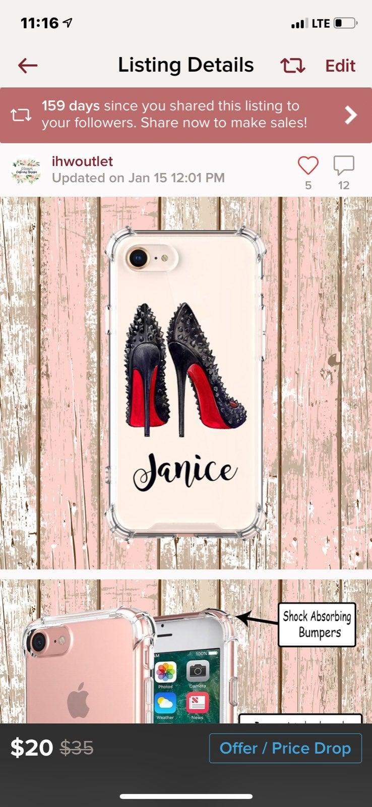 Custom Made iPhone 8 Red Bottom Heels