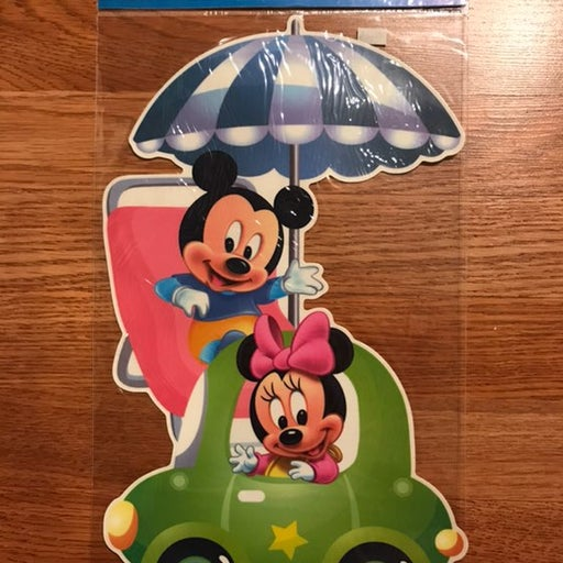 mickey and minnie mouse car sticker