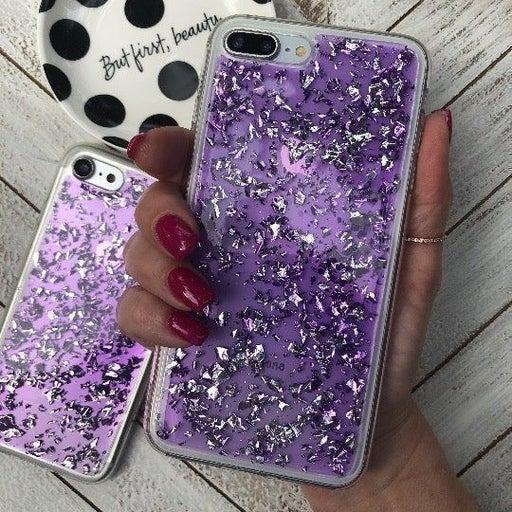 NEW iPhone 7P/8P Purple Glitter Case