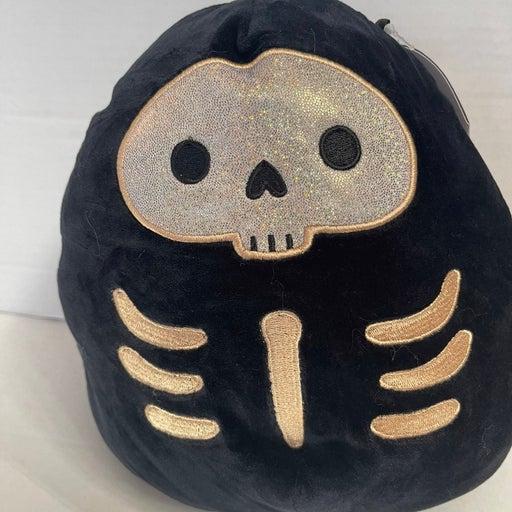 """8"""" kellytoy Squishmallow 2021 Halloween Stix the Skeleton htf"""