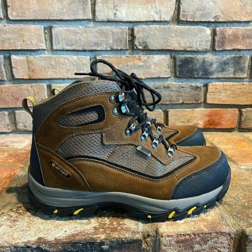 Hi-Tec Mens Skamania Mid Waterproof 7198 Dri-Tec Brown Gray Hiking Boots Sz 10 M