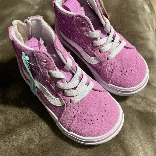 Toddler Pink Glitter High Top Vans