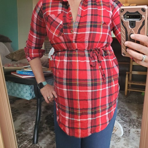 Flannel Maternity Shirt