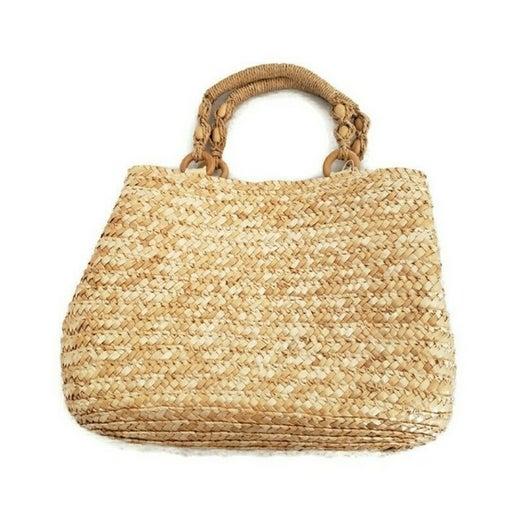 Croft & Barrow straw natural colored handbag
