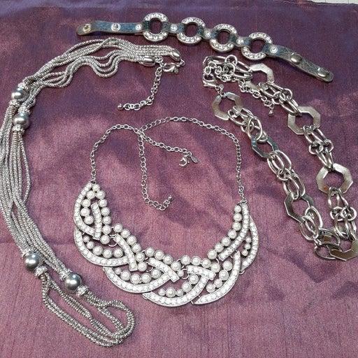 Premier Design silver tone necklaces 1 b