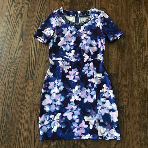 Jessica Simpson Purple Print Dress M