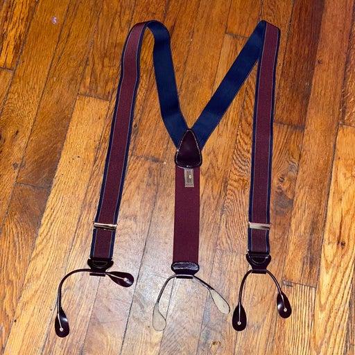 Trafalgar suspenders braces elastic blue
