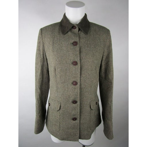 L.L. Bean Long Sleeve Tweed Pea Coat