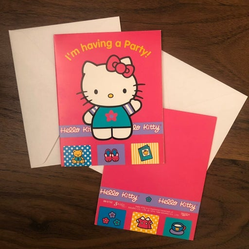 1990s Hello Kitty Invite Cards 2 Pack