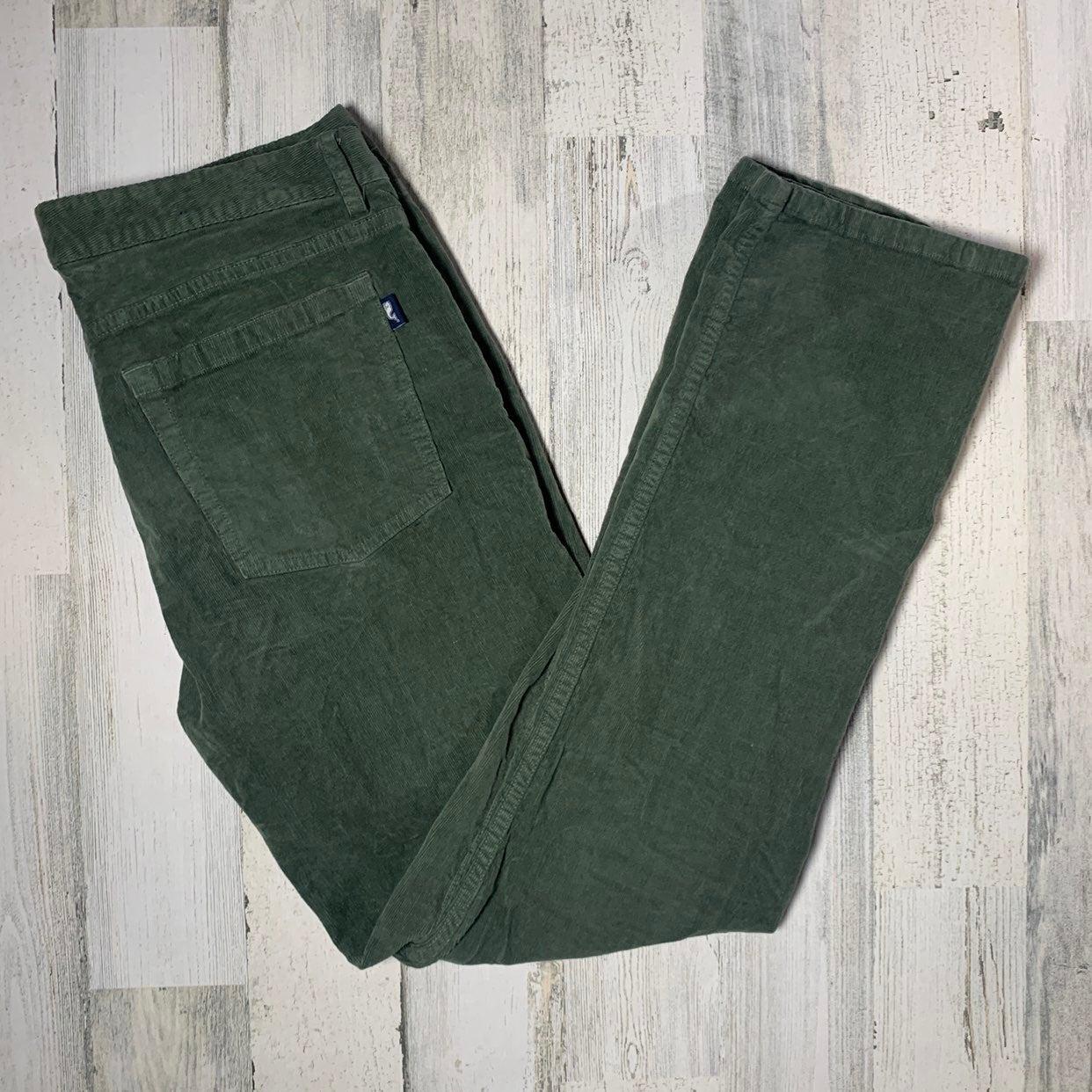 Grey Vineyard Vines Mens Five Pocket Cords Casual Corduroy Pants 40W x 32L