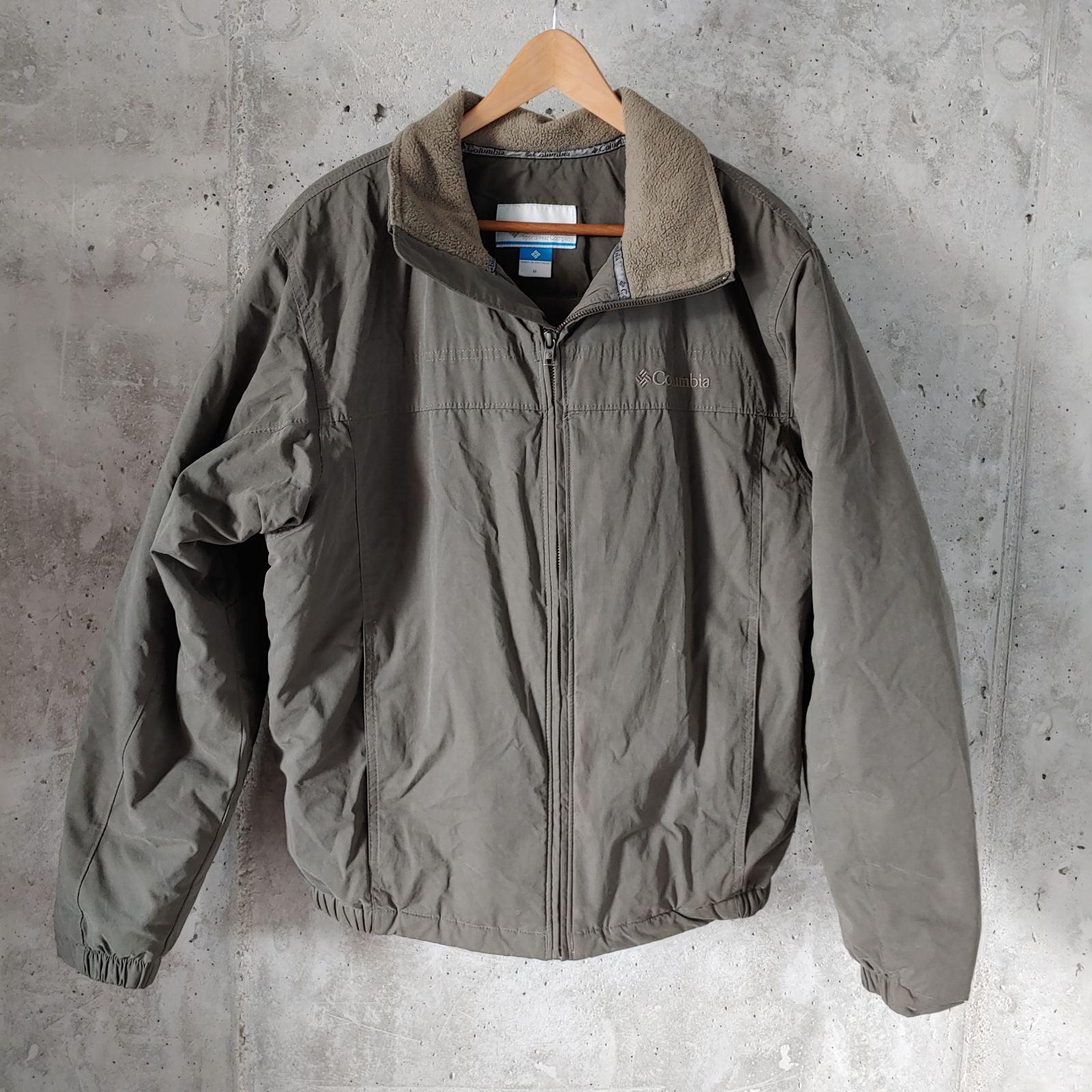 Mens Columbia Bomber Jacket Grey Medium