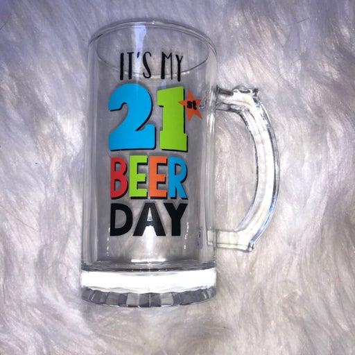 21st Birthday Pint Glass Mug