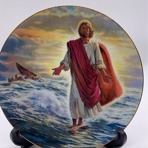 Christ Walks On Water plate by Robert Ba