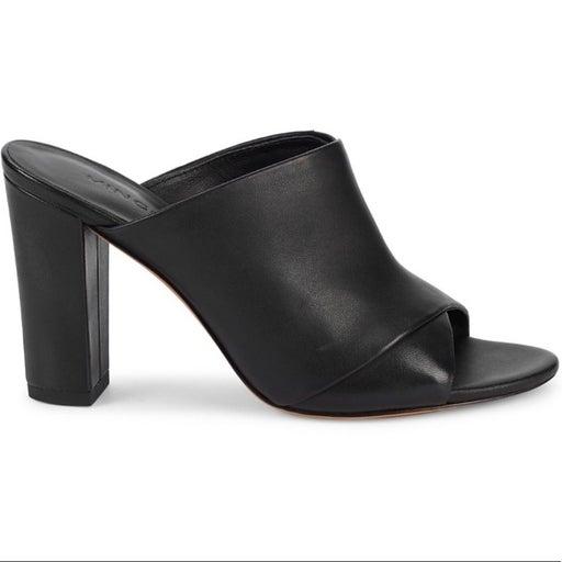 VINCE. Heath Leather Mule Sandals