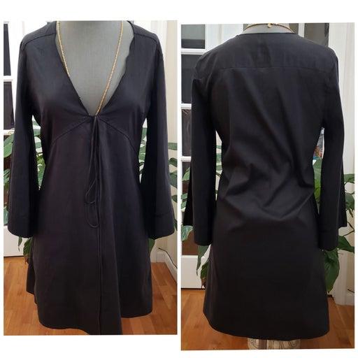 Calypso V Neck Silk Mini Sheath Dress