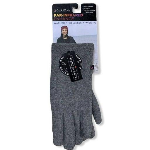 Cuddl Duds Gray Fleece Tech Gloves new