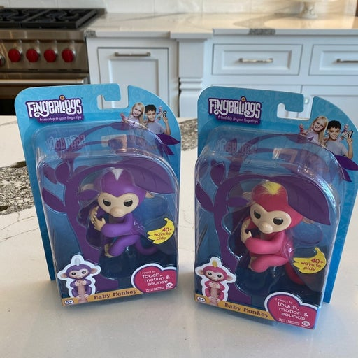 Fingerlings Pink and Purple baby monkey