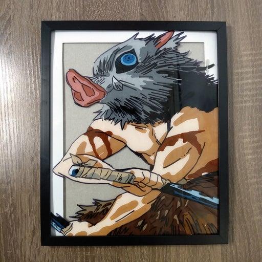 Inosuke Glass Painting