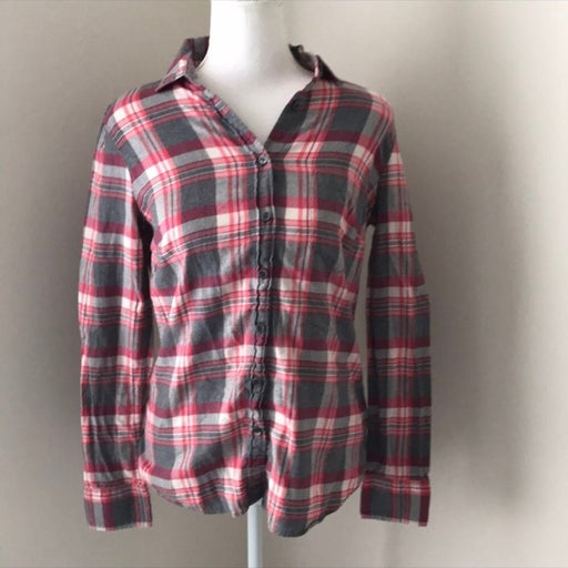 J. Crew Perfect Fit Plaid Button Down Top XS