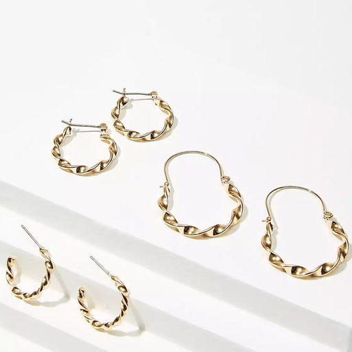 Roped Earring Set