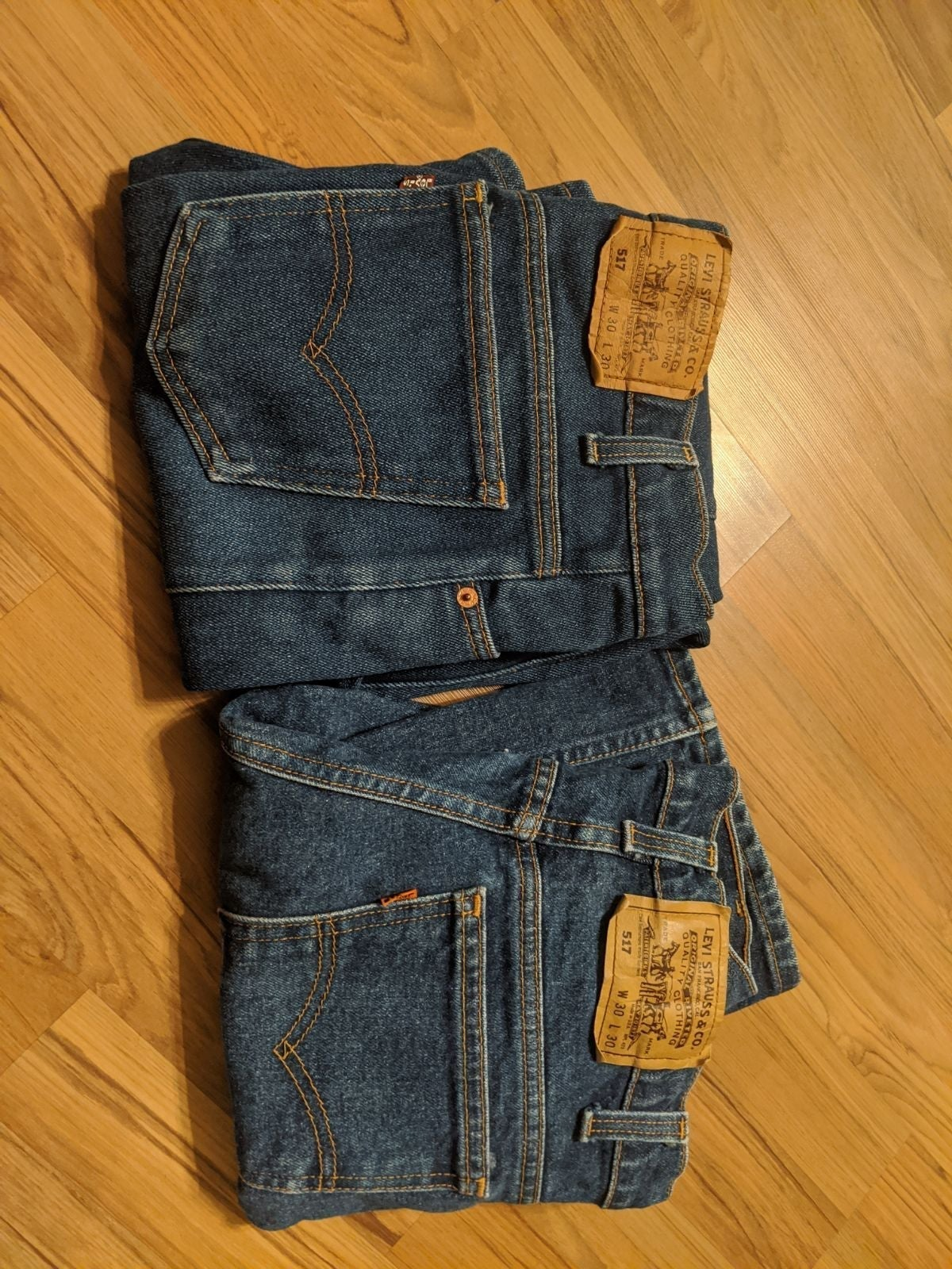 Levi jeans 517 lot of 2, 30x30