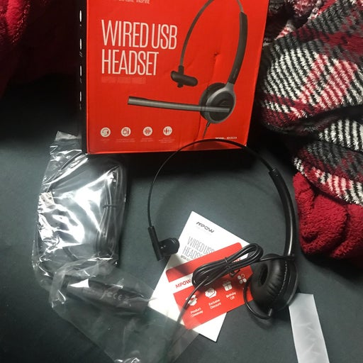 Wired usb headset