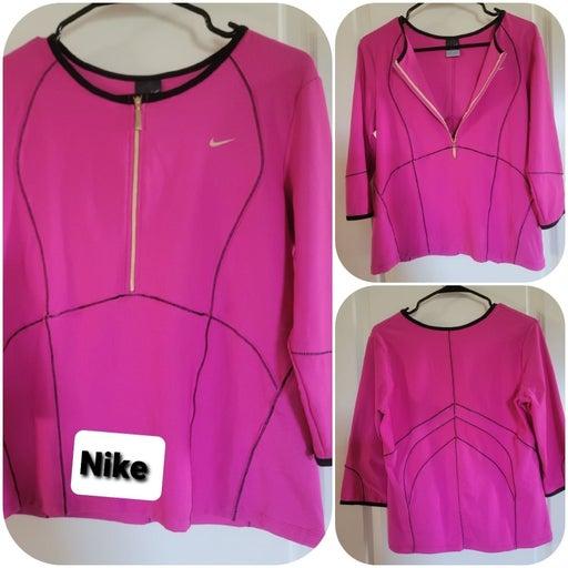 Nike Dri-FIT pink top shirt
