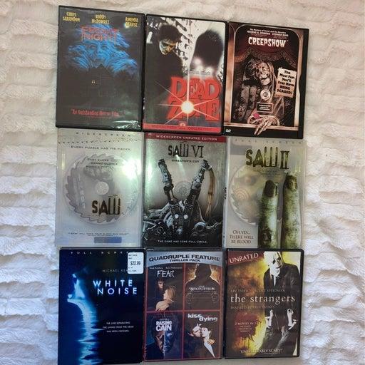12 Horror DVD's