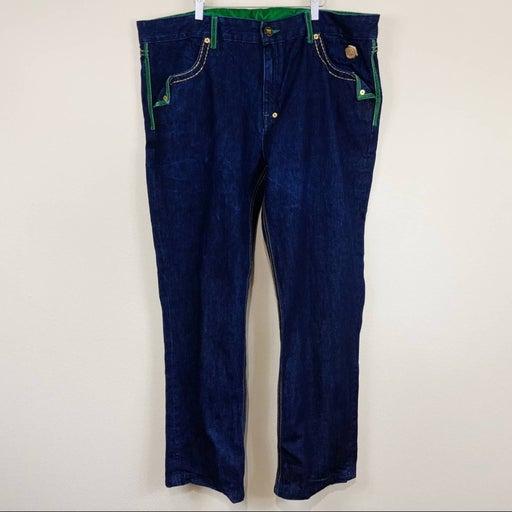 Crown Holder Jeans Velvet Trimmed Sz 44