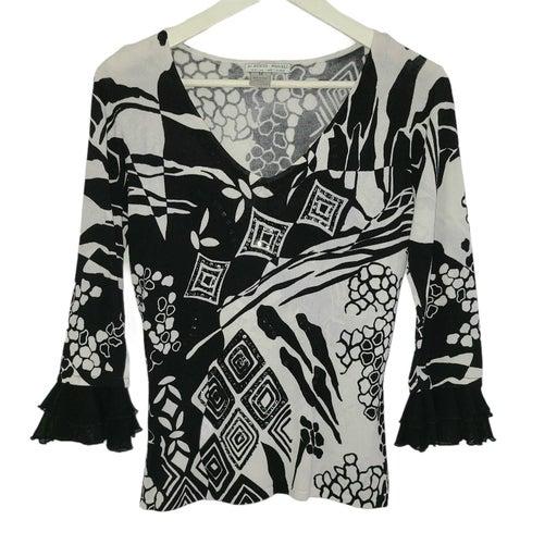 Alberto Makali women blouse top Med 1094