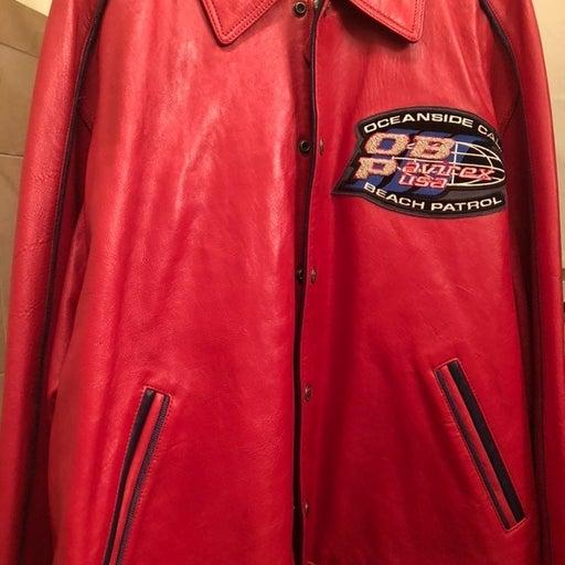 mens leather Avirex jacket