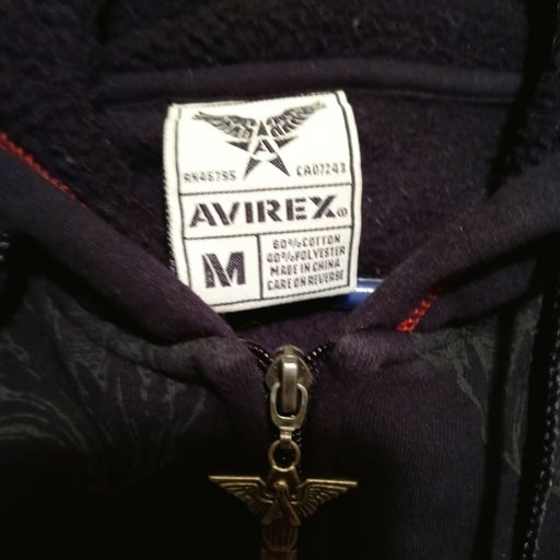 Zippered jacket by avirex sz m