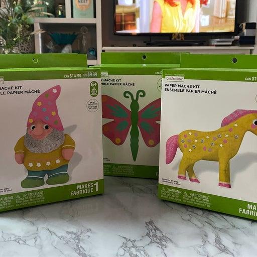 Paper mache craft kits bundle of 4