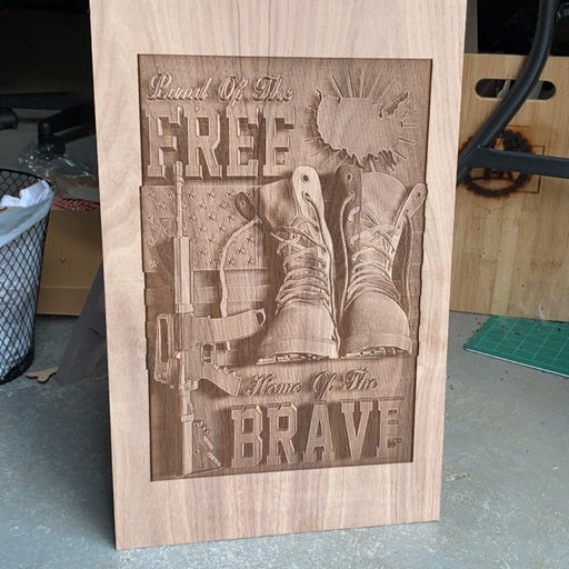 Engraved Military Plaque