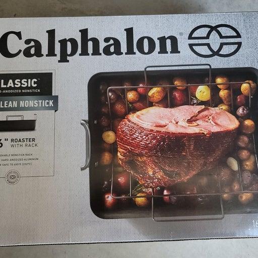 "Calphalon. 16"" roaster with rack"