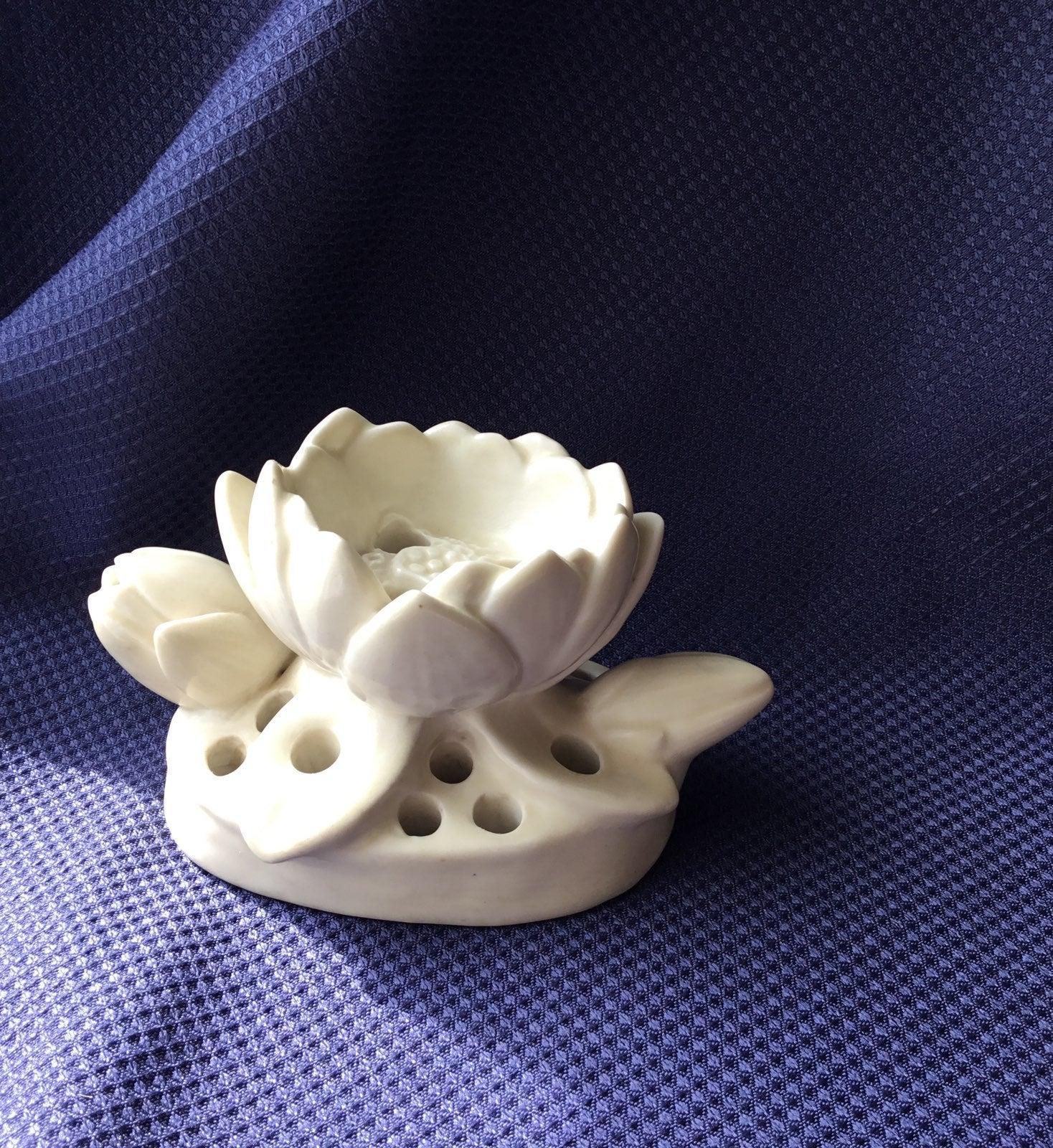 Rookwood flower frog pottery
