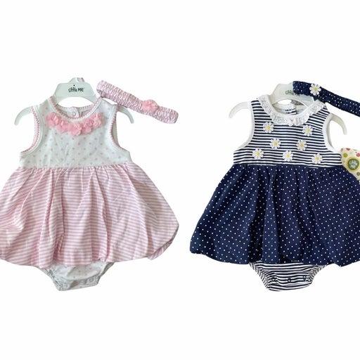 Little Me Onesie Dresses + Matching Headbands