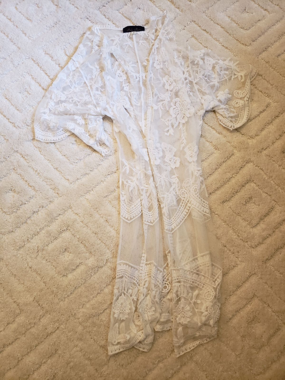Blue Rain lace kimono SM