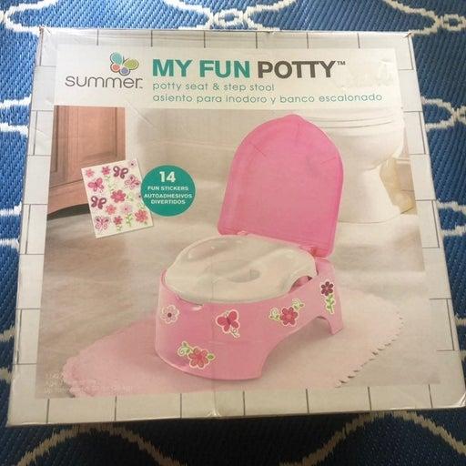 Summer Fun Pink Potty Seat & Step Stool