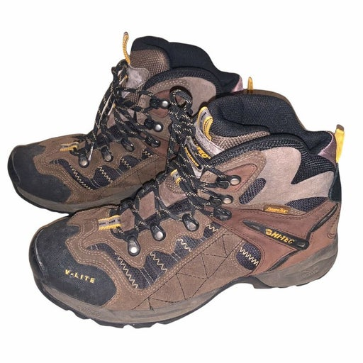 HI-TEC V-Lite Stabila Flex Lace Up Brown Outdoor Hiking Boots
