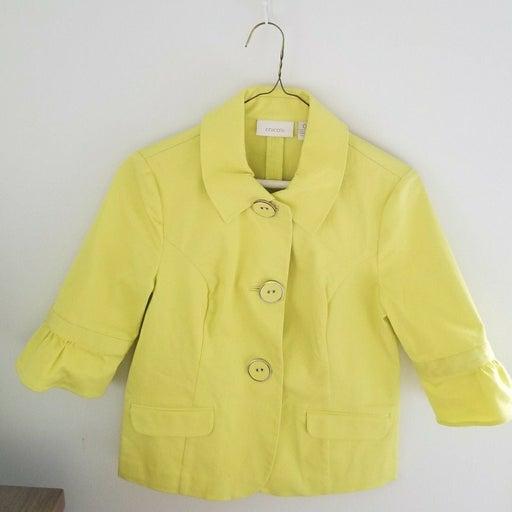 Chico's Yellow Blazer Pea Coat
