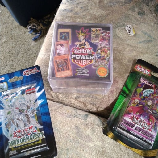 Yugioh power cube and 2x yugioh booster